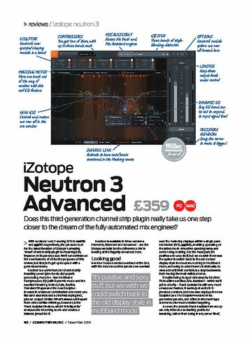 Computer Music iZotope Neutron 3 Advanced