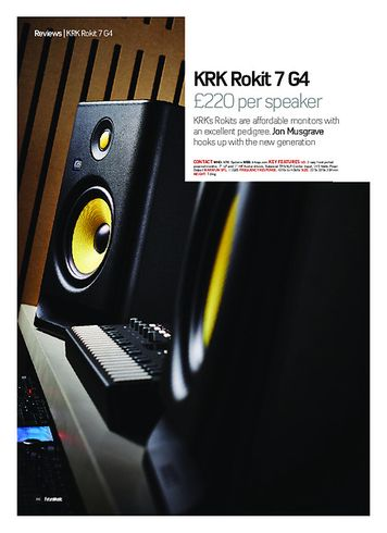 Future Music KRK Rokit 7 G4