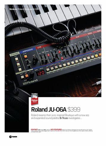 Future Music  Roland JU-06A