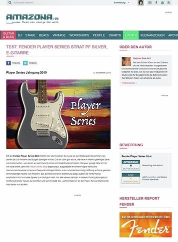 Amazona.de Fender Player Series Strat PF
