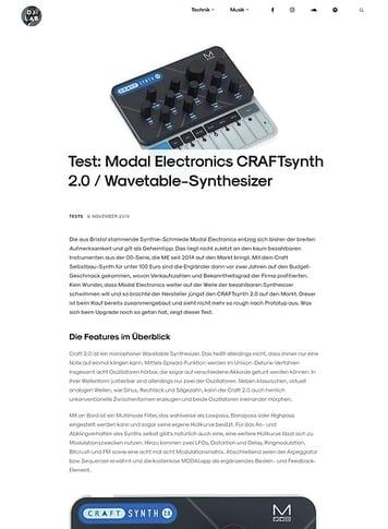 DJLAB Modal Electronics CRAFTsynth 2.0