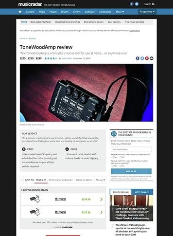 MusicRadar.com ToneWoodAmp