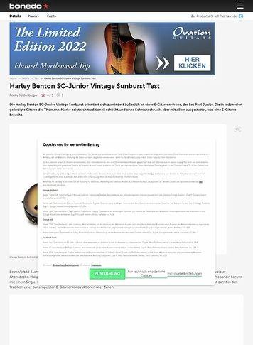 Bonedo.de Harley Benton SC-Junior Vintage Sunburst