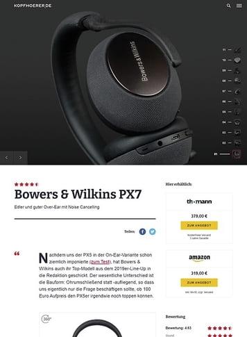 Kopfhoerer.de Bowers & Wilkins PX 7 SG
