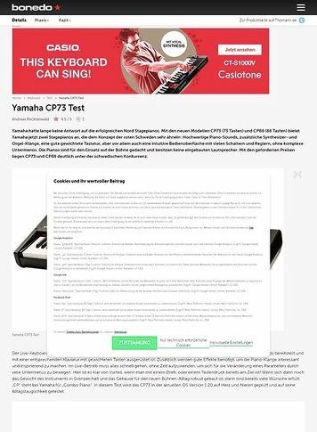 Bonedo.de Yamaha CP73