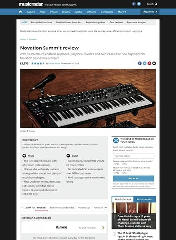 MusicRadar.com Novation Summit