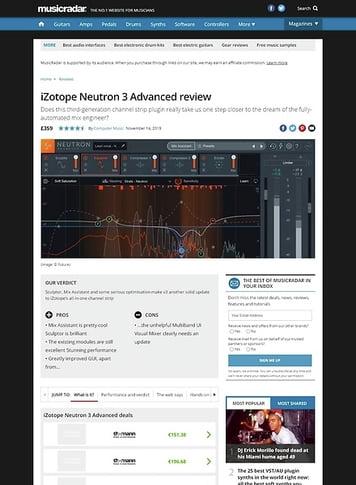 MusicRadar.com iZotope Neutron 3 Advanced
