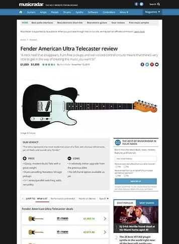 MusicRadar.com Fender American Ultra Telecaster