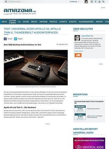 Amazona.de Universal Audio Apollo X4 und Apollo Twin X
