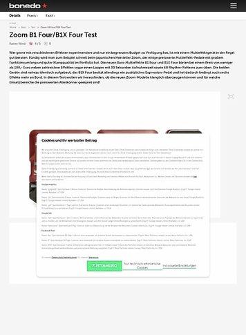 Bonedo.de Zoom B1 Four und B1X Four