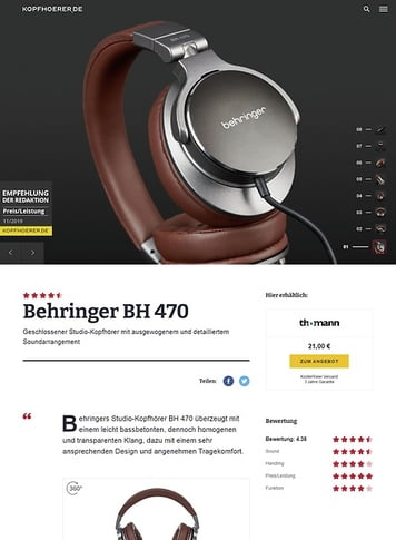 Kopfhoerer.de Behringer BH 470