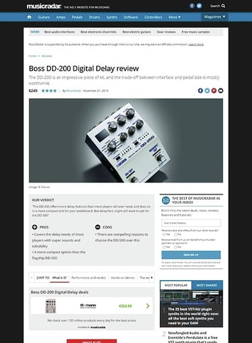 MusicRadar.com Boss DD-200 Digital Delay