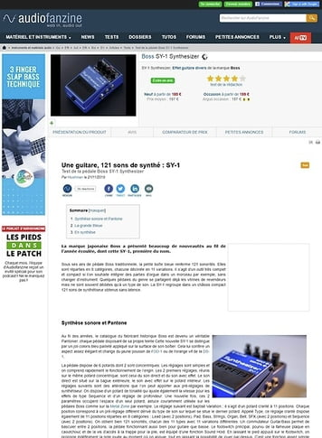 Audiofanzine.com Boss SY-1 Synthesizer