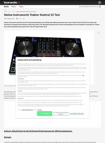 Bonedo.de Native Instruments Traktor Kontrol S3