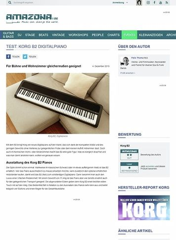 Amazona.de Korg B2 Digitalpiano
