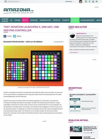 Amazona.de Novation Launchpad X und Mini Mk3