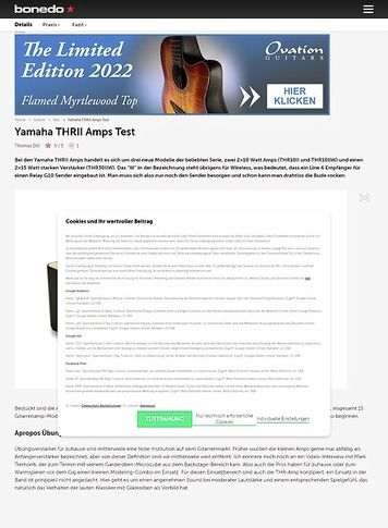 Bonedo.de Yamaha THRII Amps