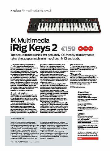 Computer Music IK Multimedia iRig Keys 2