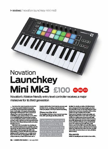 Computer Music Novation Launchkey Mini Mk3