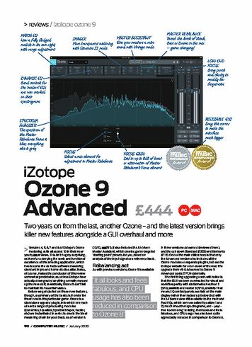 Computer Music iZotope Ozone 9 Advanced