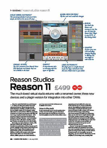 Computer Music Reason Studios Reason 11