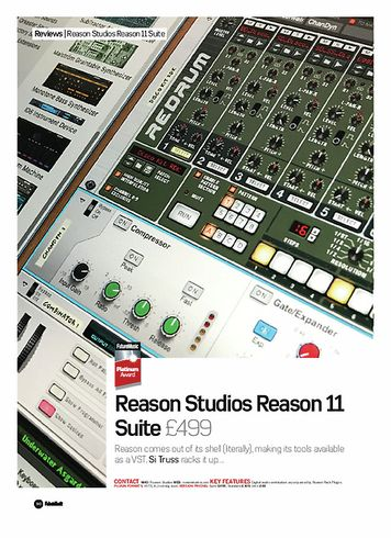 Future Music Reason Studios Reason 11 Suite