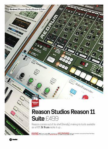 Future Music Reason Studios Reason 11 Suite