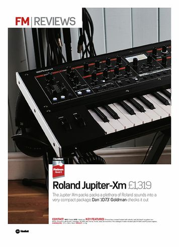 Future Music  Roland Jupiter-Xm