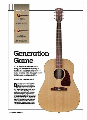 Guitarist GIBSON G-45 STUDIO