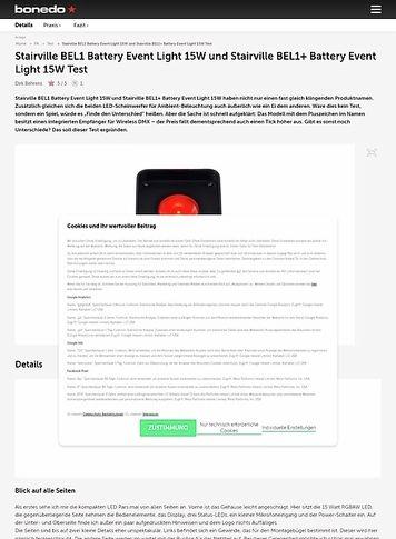 Bonedo.de Stairville BEL1 Battery Event Light 15W und BEL1+ Battery Event Light 15W