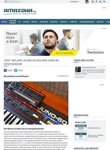 Amazona.de Roland JU-06A vs. Roland Juno-60