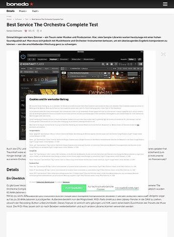 Bonedo.de Best Service The Orchestra Complete