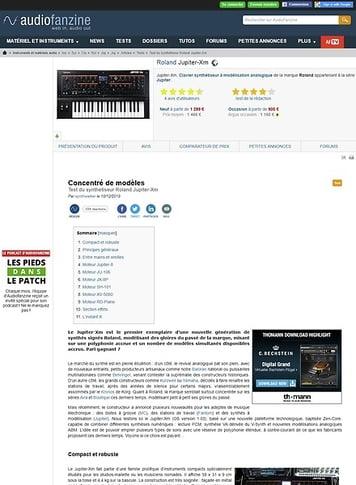 Audiofanzine.com Roland Jupiter-Xm