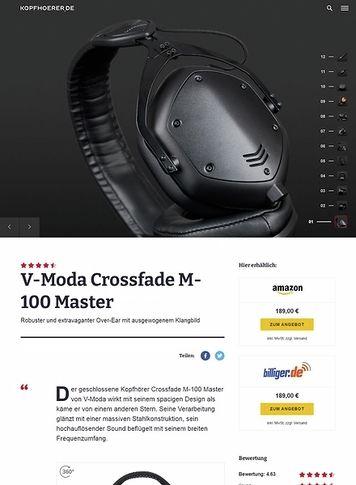 Kopfhoerer.de V-Moda Crossfade M-100 Master