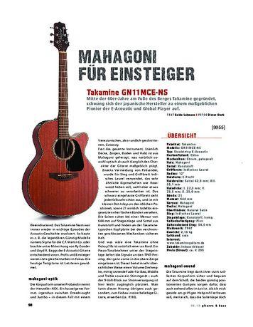 Gitarre & Bass Takamine GN11MCE-NS