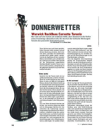Gitarre & Bass Warwick RockBass Corvette Taranis