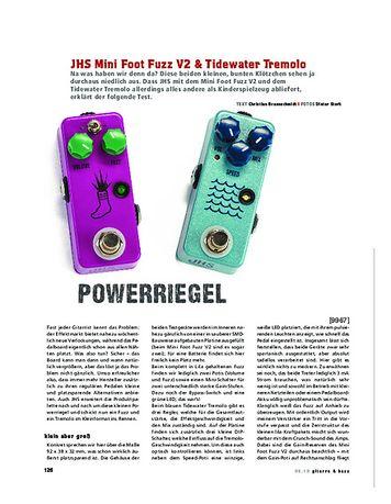 Gitarre & Bass JHS Mini Foot Fuzz V2 & Tidewater Tremolo