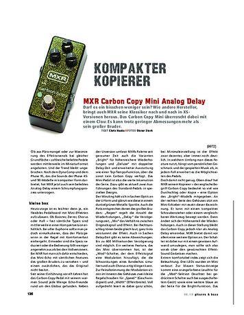 Gitarre & Bass MXR Carbon Copy Mini Analog Delay