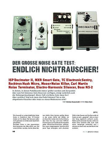 Gitarre & Bass Vergleichstest: Noise Gate Pedale