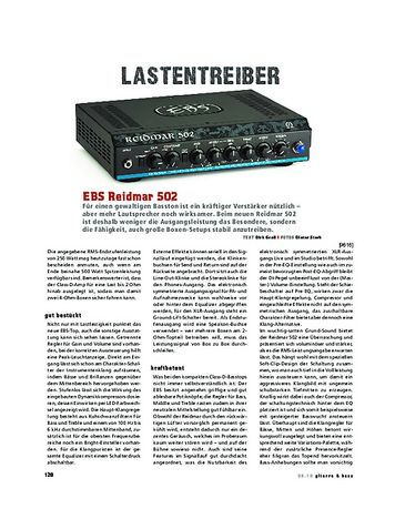 Gitarre & Bass EBS Reidmar 502