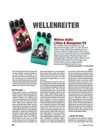 Gitarre & Bass Walrus Audio Lillian & Monument V2