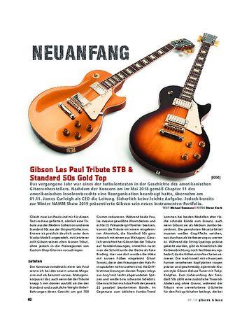 Gitarre & Bass Gibson Les Paul Tribute STB & Standard 50s Gold Top