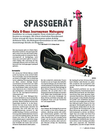 Gitarre & Bass Kala U-Bass Journeyman Mahogany