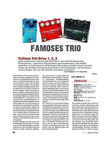 Gitarre & Bass Fulltone Full-Drive 1, 2 V2 & 3
