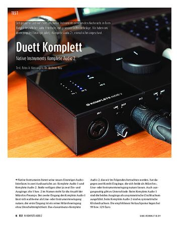 Sound & Recording Native Instruments Komplete Audio 2