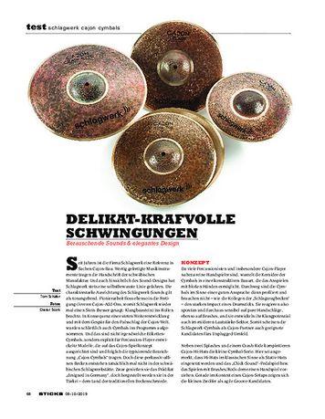 Sticks Schlagwerk Cajon Cymbals