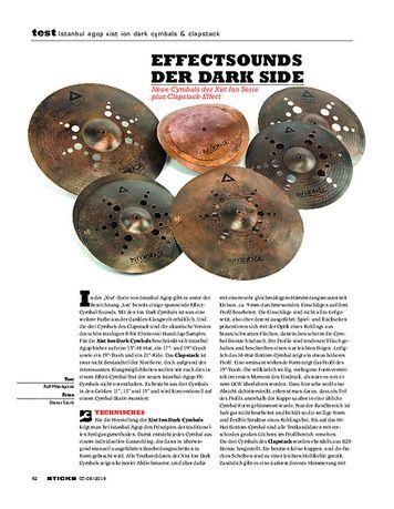Sticks Istanbul Agop Xist Ion Dark Cymbals & Clapstack