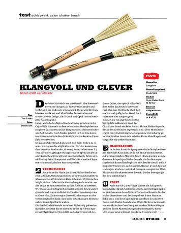 Sticks Schlagwerk Cajon Shaker Brush