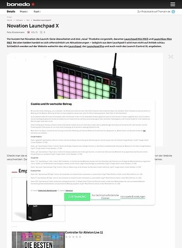 Bonedo.de Novation Launchpad X