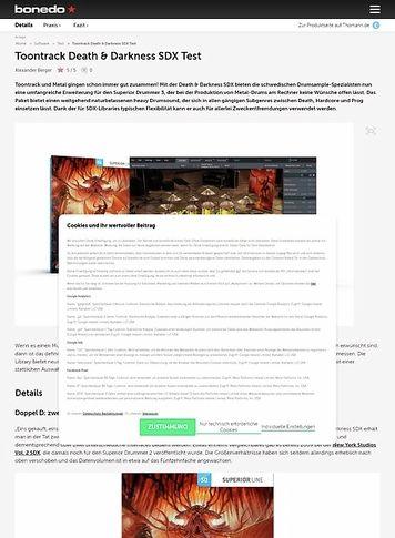 Bonedo.de Toontrack Death & Darkness SDX